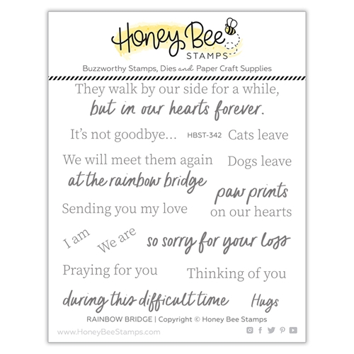 Honey Bee RAINBOW BRIDGE Clear Stamp Set hbst342 Preview Image
