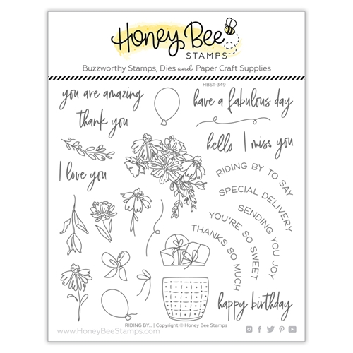 Honey Bee RIDING BY Clear Stamp Set hbst349 Preview Image