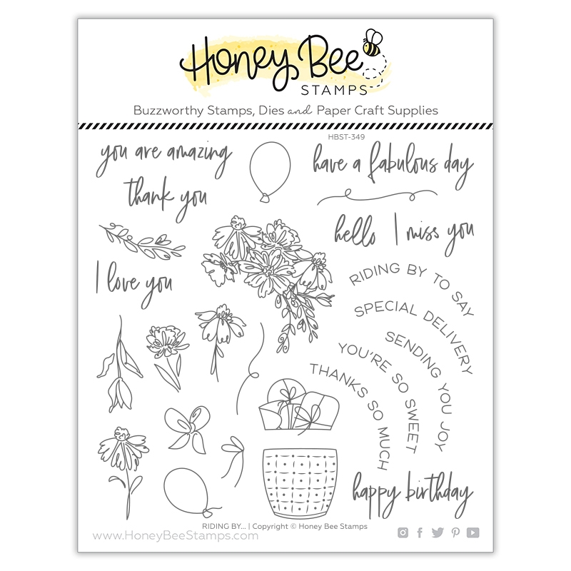 Honey Bee RIDING BY Clear Stamp Set hbst349 zoom image