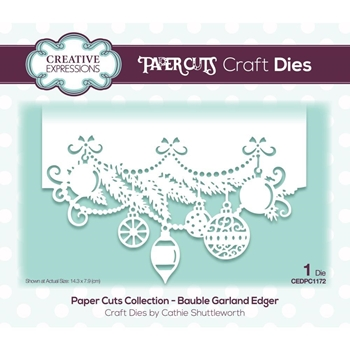 Creative Expressions BAUBLE GARLAND Paper Cuts Edger Die cedpc1172