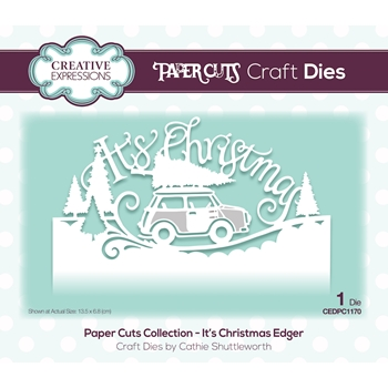 Creative Expressions IT'S CHRISTMAS Paper Cuts Edger Die cedpc1170