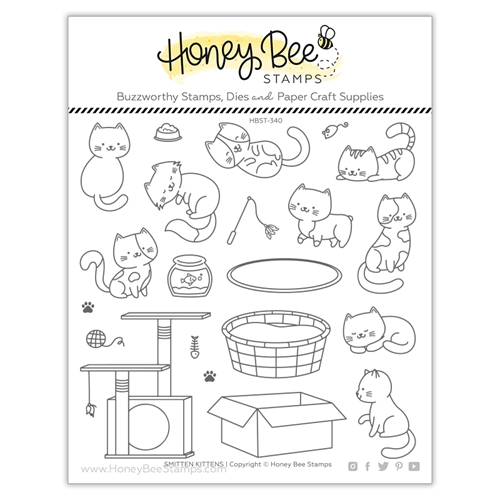 Honey Bee SMITTEN KITTENS Clear Stamp Set hbst340 Preview Image
