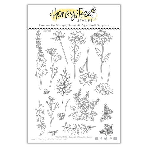 Honey Bee WILDFLOWERS Clear Stamp Set hbst356 Preview Image