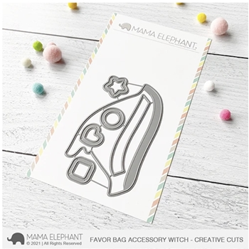 Mama Elephant FAVOR BAG ACCESSORY WITCH Creative Cuts Steel Dies