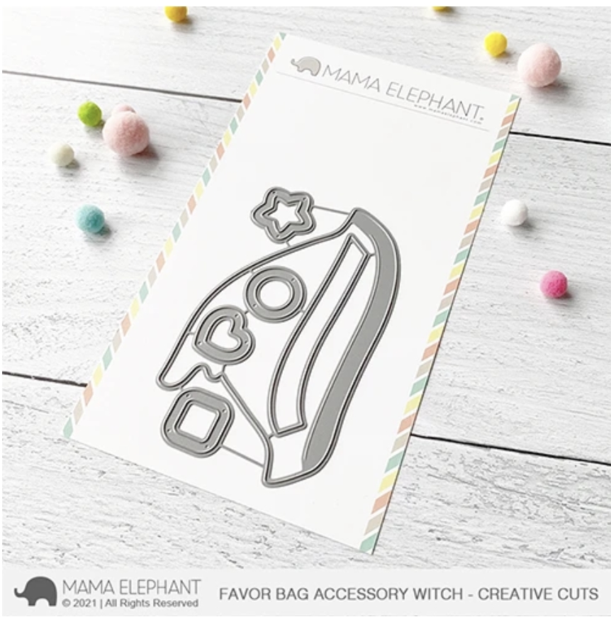Mama Elephant FAVOR BAG ACCESSORY WITCH Creative Cuts Steel Dies zoom image