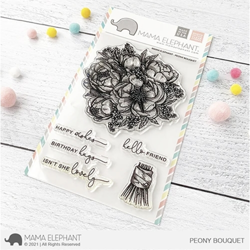 Mama Elephant Clear Stamps PEONY BOUQUET Preview Image