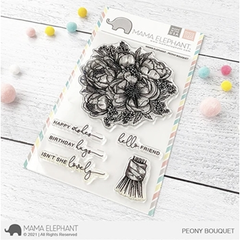 Mama Elephant Clear Stamps PEONY BOUQUET