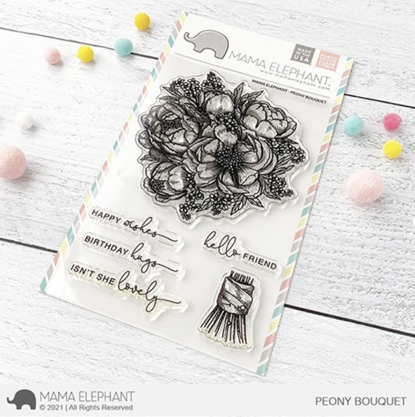 Mama Elephant Clear Stamps PEONY BOUQUET zoom image