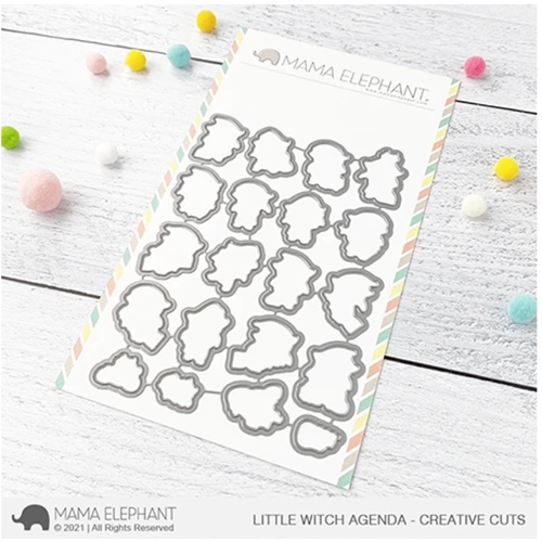 Mama Elephant LITTLE WITCH AGENDA Creative Cuts Steel Dies Preview Image
