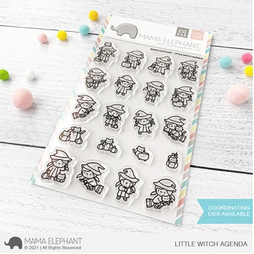 Mama Elephant Clear Stamps LITTLE WITCH AGENDA Preview Image