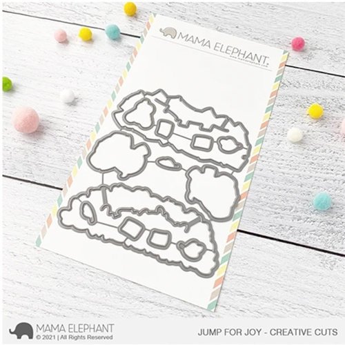 Mama Elephant JUMP FOR JOY Creative Cuts Steel Dies Preview Image