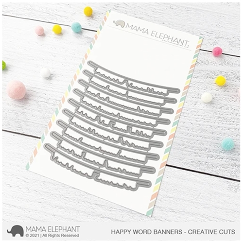 Mama Elephant HAPPY WORD BANNERS Creative Cuts Steel Dies Preview Image