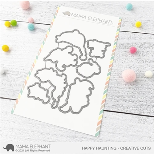 Mama Elephant HAPPY HAUNTING Creative Cuts Steel Dies Preview Image