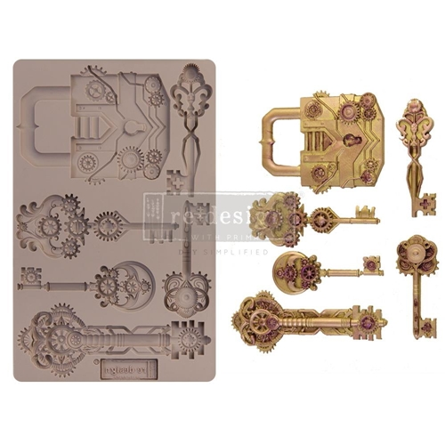Prima Marketing MECHANICAL LOCK AND KEYS ReDesign Decor Mould 652159 Preview Image
