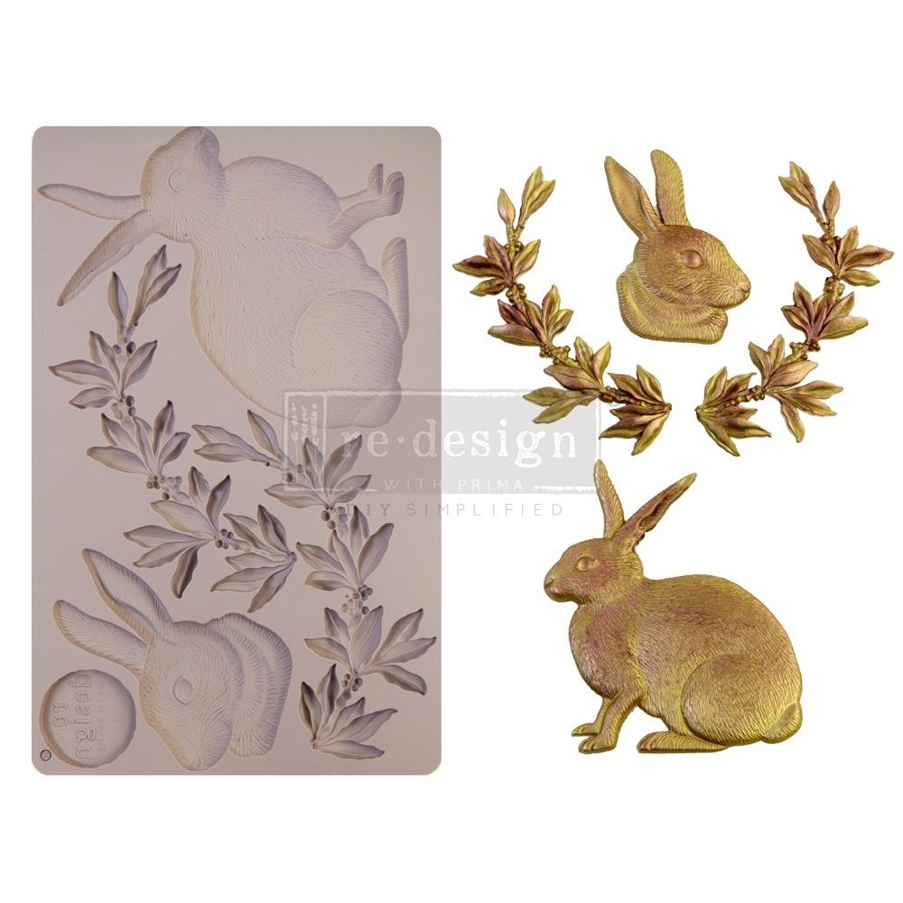 Prima Marketing MEADOW HARE ReDesign Decor Mould 652050 zoom image