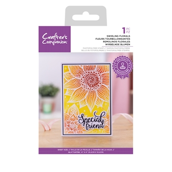 Crafter's Companion SWIRLING FLORALS Clear Stamp Set ccstpswif
