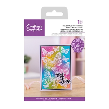 Crafter's Companion DELIGHTFUL BUTTERFLIES Clear Stamp Set ccstpdebu