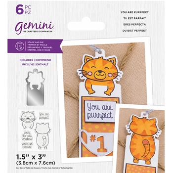 Gemini YOU ARE PURRFECT Stamp And Die Set gemstdyapur