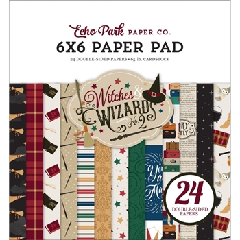 Echo Park WITCHES AND WIZARDS 2 6 x 6 Paper Pad wiw247023