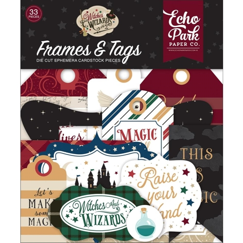 Echo Park WITCHES AND WIZARDS 2 Ephemera Frames And Tags wiw247025 Preview Image