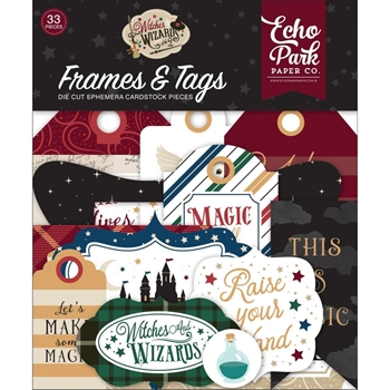 Echo Park WITCHES AND WIZARDS 2 Ephemera Frames And Tags wiw247025