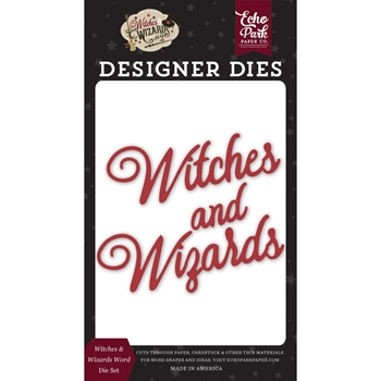 Echo Park WITCHES AND WIZARDS WORD Die Set wiw247042