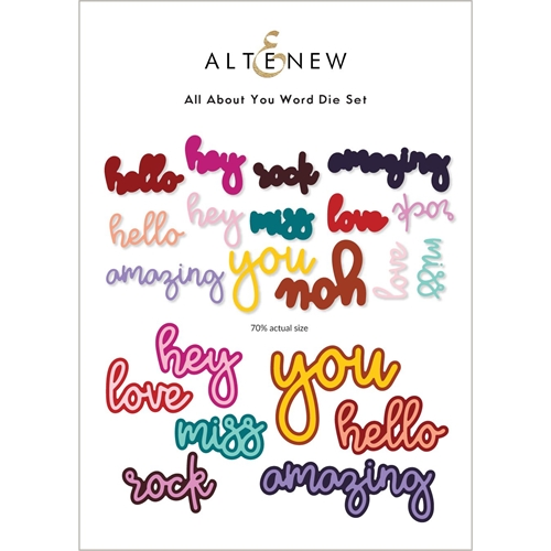 Altenew ALL ABOUT YOU WORD Dies ALT6218 Preview Image