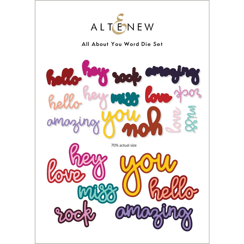 Altenew ALL ABOUT YOU WORD Dies ALT6218 zoom image