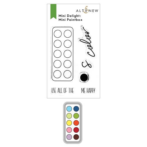 Altenew MINI DELIGHT PAINTBOX Clear Stamp and Die Bundle ALT6162 Preview Image