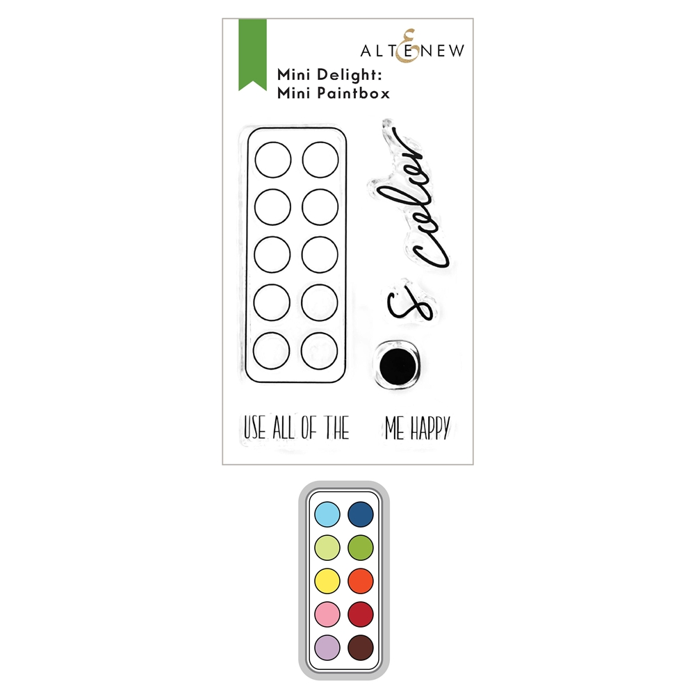 Altenew MINI DELIGHT PAINTBOX Clear Stamp and Die Bundle ALT6162 zoom image