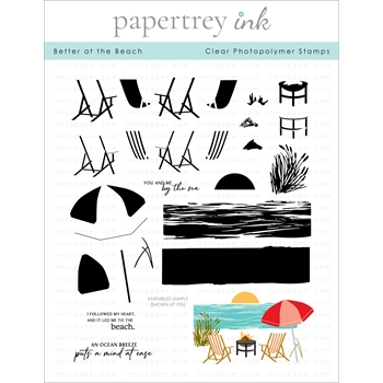 Papertrey Ink BETTER AT THE BEACH Clear Stamps 1296