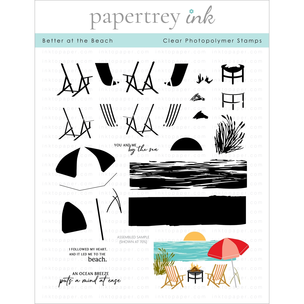 Ink to Paper BETTER AT THE BEACH Clear Stamps 1296 zoom image