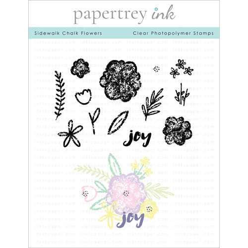 Papertrey Ink SIDEWALK CHALK FLOWERS Clear Stamps 1299 Preview Image