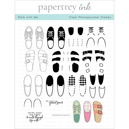 Papertrey Ink WALK WITH ME Clear Stamps 1297 Preview Image