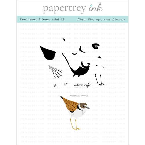 Papertrey Ink FEATHERED FRIENDS MINI 12 Clear Stamps 1294 Preview Image