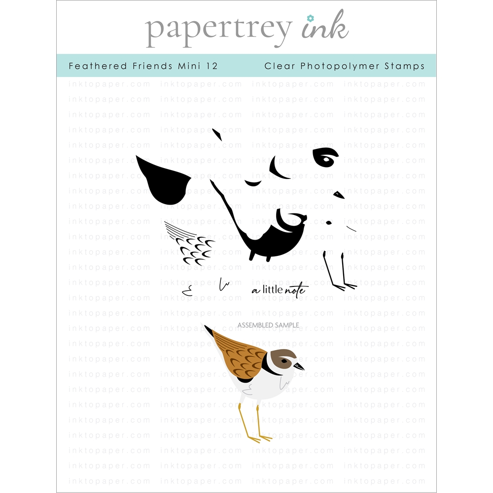 Papertrey Ink FEATHERED FRIENDS MINI 12 Clear Stamps 1294 zoom image