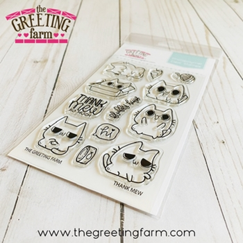 The Greeting Farm THANK MEW Clear Stamps tgf592