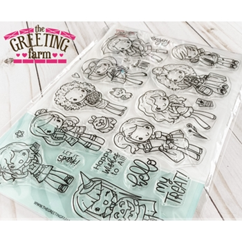 The Greeting Farm MISS ANYA ALL YEAR Clear Stamps Limited Edition tgf595
