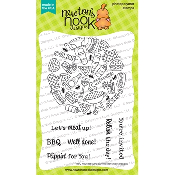 Newton's Nook Designs BBQ ROUNDABOUT Clear Stamps NN2106S08