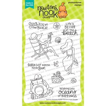 Newton's Nook Designs SUMMER MOMENTS Clear Stamps NN2106S02