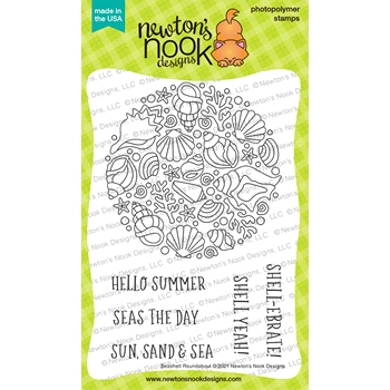Newton's Nook Designs SEASHELL ROUNDABOUT Clear Stamps NN2106S07