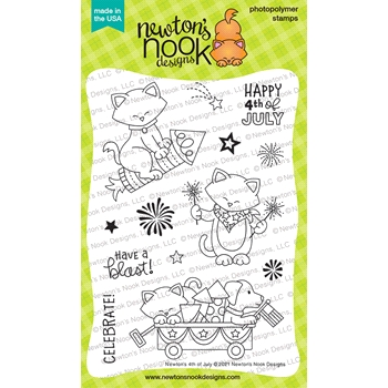 Newton's Nook Designs NEWTON'S 4TH OF JULY Clear Stamps NN2106S03