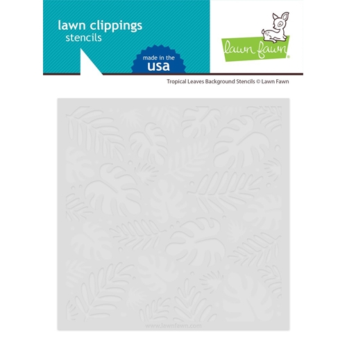 Lawn Fawn TROPICAL LEAVES BACKGROUND Stencils lf2626 Preview Image