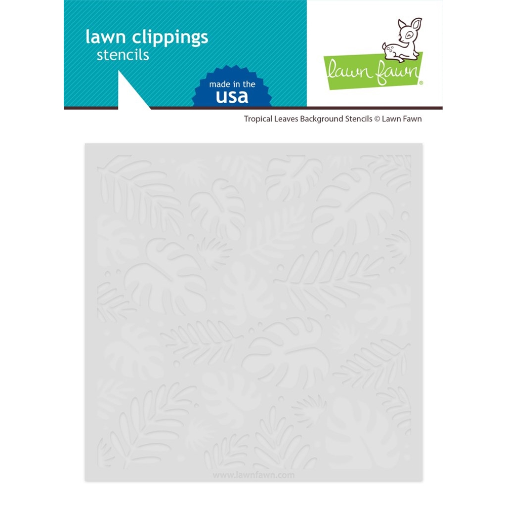 Lawn Fawn TROPICAL LEAVES BACKGROUND Stencils lf2626 zoom image