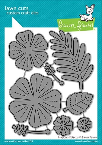 Lawn Fawn HAPPY HIBISCUS Die Cuts lf2619 zoom image