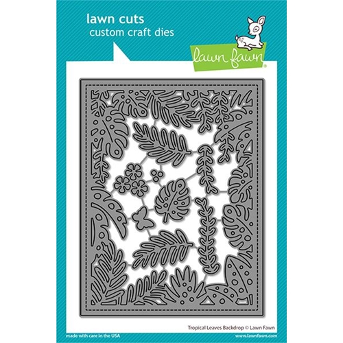 Lawn Fawn TROPICAL LEAVES BACKDROP Die Cuts lf2615 Preview Image
