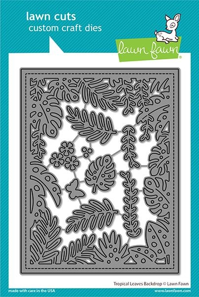 Lawn Fawn TROPICAL LEAVES BACKDROP Die Cuts lf2615 zoom image