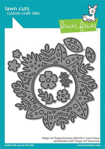 Lawn Fawn MAGIC IRIS TROPICAL LEAVES ADD-ON Die Cuts lf2614 Preview Image