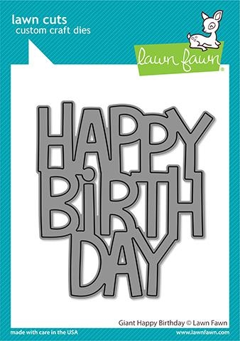 Lawn Fawn GIANT HAPPY BIRTHDAY Die Cut lf2612 Preview Image
