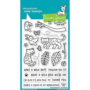 Lawn Fawn TOUCAN DO IT Clear Stamps lf2603